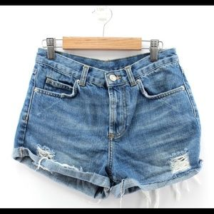 Topshop Destructed Jean Short